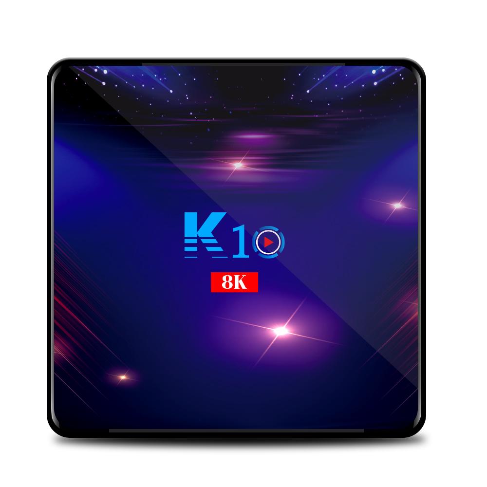 Android 9.0 TV Box K10 Amlogic S905x3 8K Smart TVBOX 4GB RAM 64GB ROM Set top Box 4G 32G Media Player 5G Wifi BT