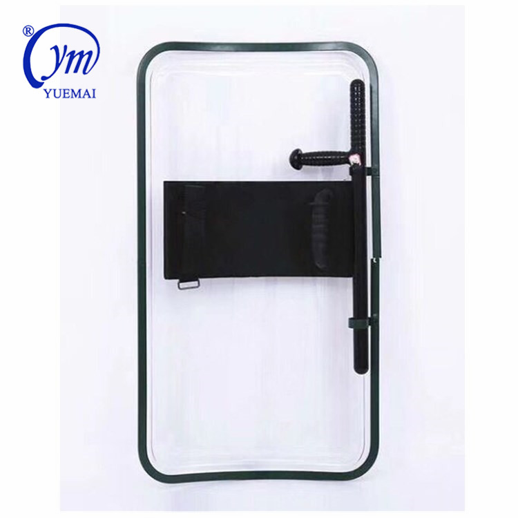 police Security transparent polycarbonate  anti- riot shield