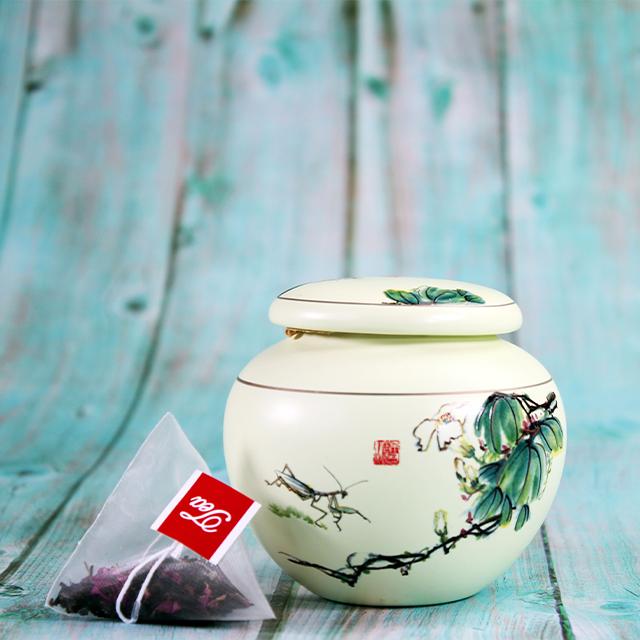 Natural mixed Qimen black tea, blue and white porcelain, gift box with wholesale - 4uTea | 4uTea.com