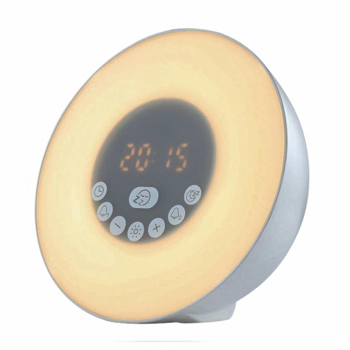 Amazon Hot Bedroom Wake Up Light Sunrise Sunset Simulation Alarm Clock