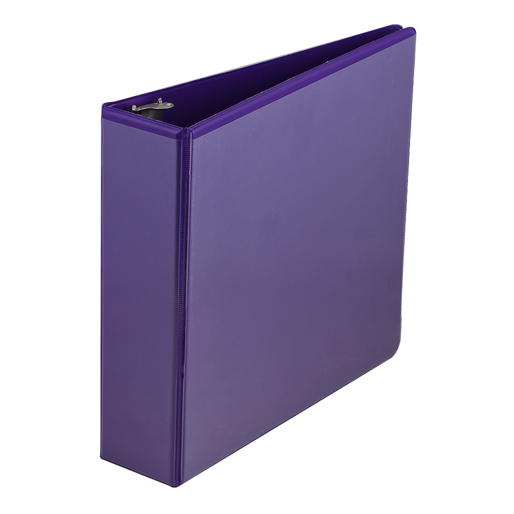 PP/PVC 3 metal ring binder 1inch file folder wholesale custom patten folder file for 150 page papers office stationery