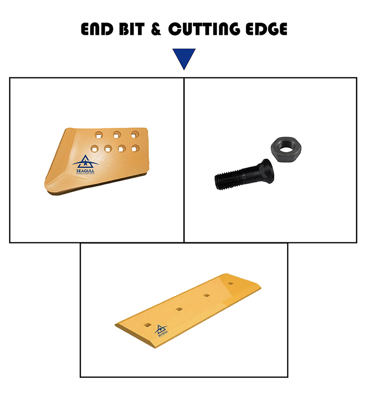 Cat966 wheel loader cutting edge end 4T9125 grader blades cutting edges