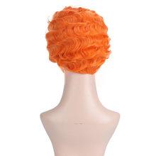 Manweishart человеческие волосы парики для женщин океан волна Remy натуральный цвет человеческие волосы парик 6 дюймов бразильский парик(Китай)