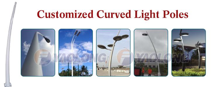 free custom european street lighting pole outdoor decorative light pole wholesale