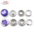 Round shape pearl cap metal five prong snap button for bag
