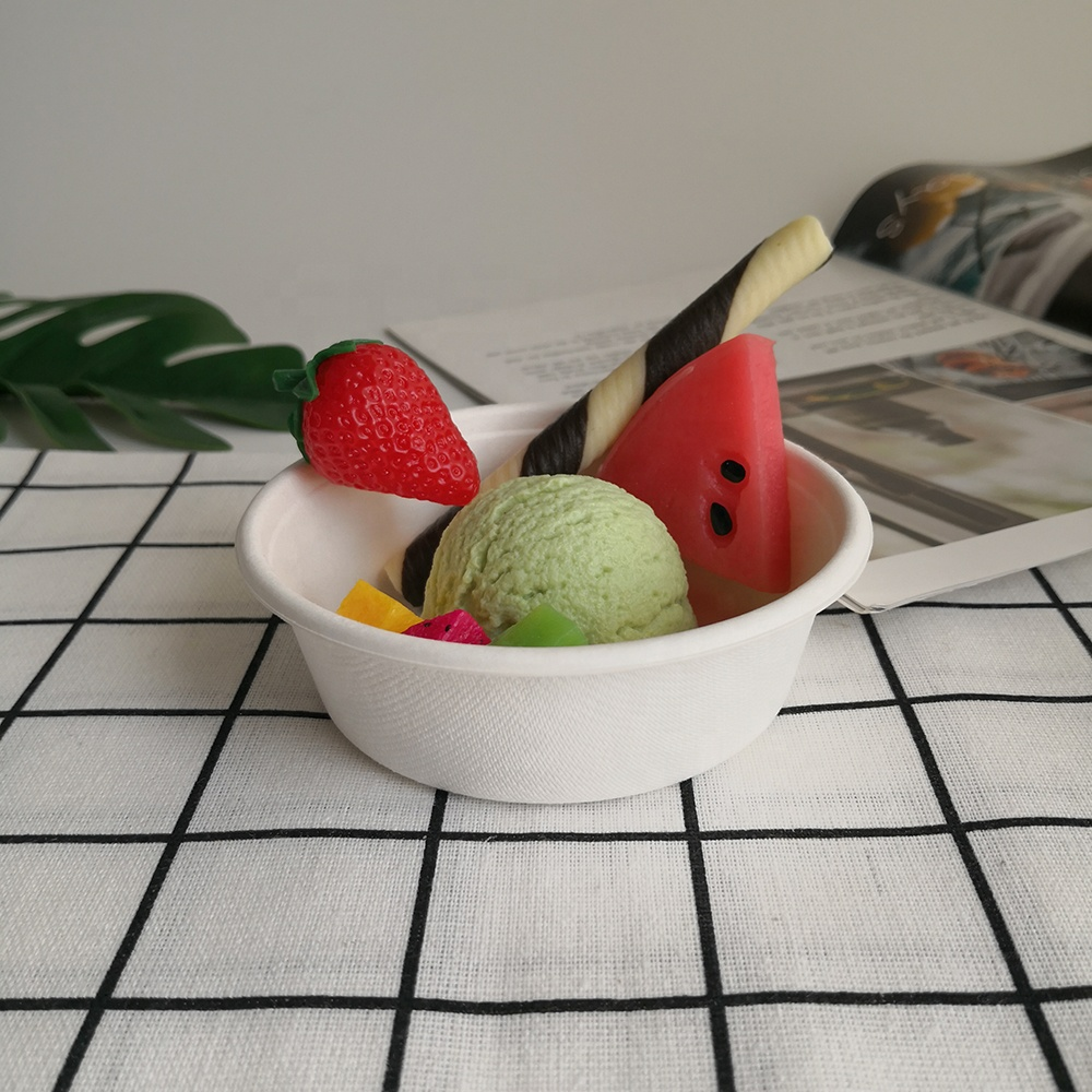 Alibaba 2020 New 8oz Biodegradable Eco Bagasse Sugarcane Paper Pulp Disposable Salad Bowl