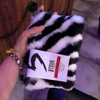 Hand Bag Fashionable Bag New Trendy Women Autumn Winter All-match Hand Cosmetic Bag Plush Cute Fashionable Fur Bag Pouch