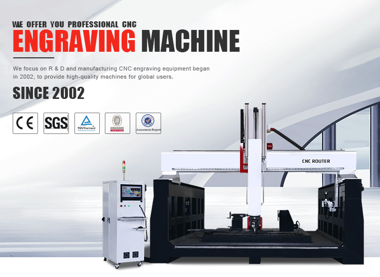 Factory Supply CNC 5 Axis Wood Machine / 5 Axis CNC Nachining Car Model