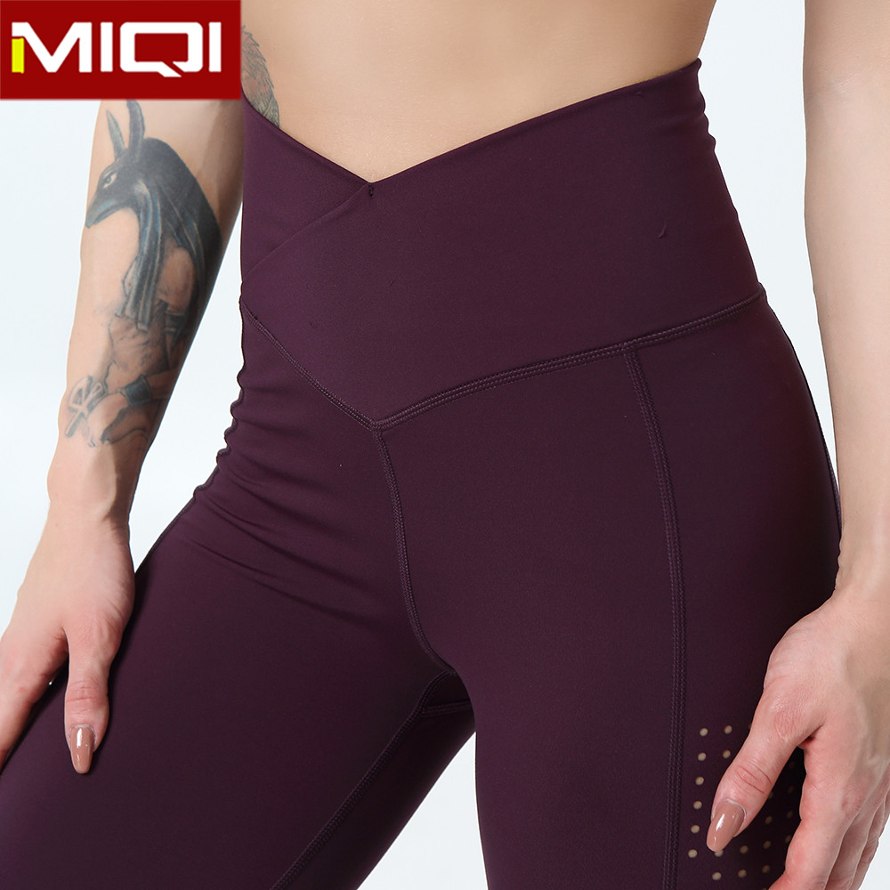 Custom Squat Proof Compression Tummy Control Stretch Recycled Soft High Waist Crane Sports Wear