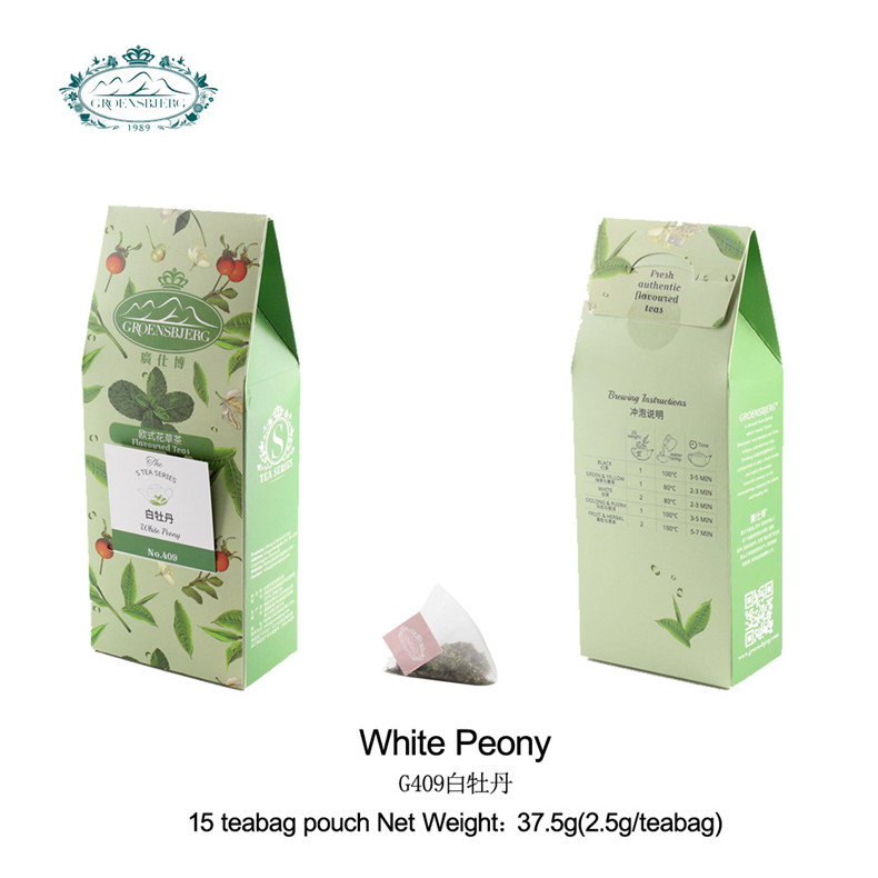 delicate mild white peony tea with creamy fruit blend tea relax tea fresh authentic flavour - 4uTea | 4uTea.com