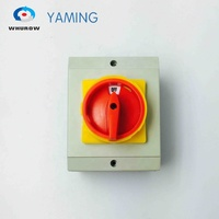 Disconnected Isolator switch YMD11-32D 3P 690V with enclosure waterproof load break rotary changeover cam