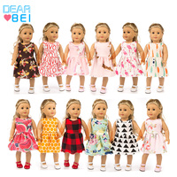 Dear Bei Fashion Doll Dress Wear For 43cm Baby Doll 18 Inch Born Dolls Clothes And Toy Accessories