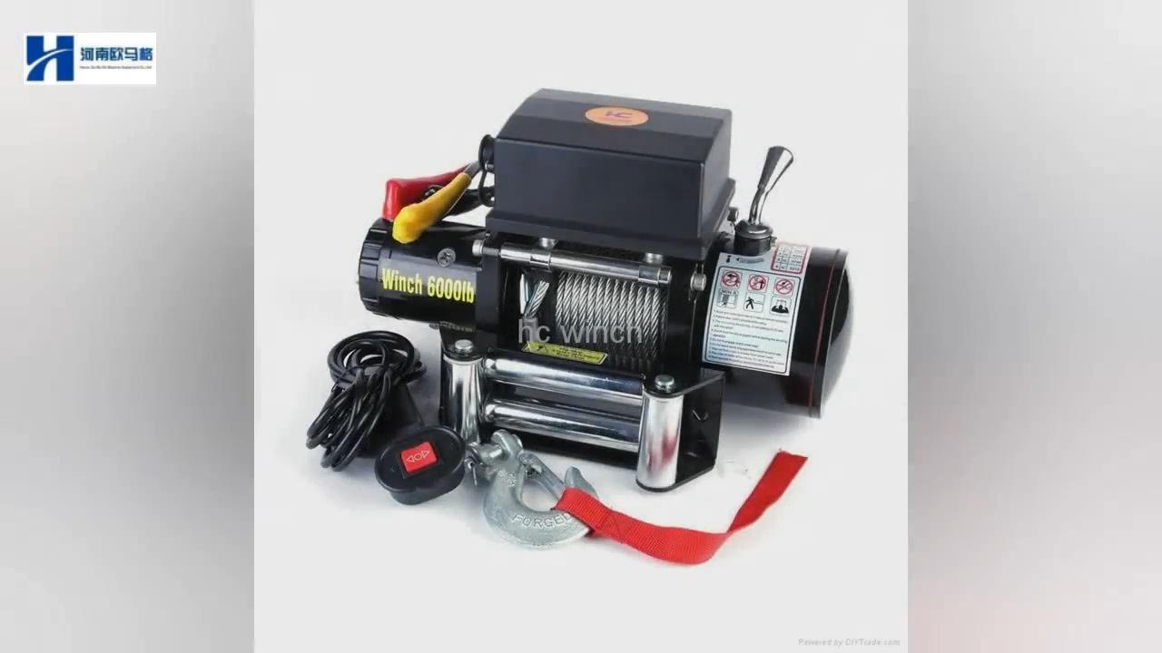 Guinchos de âncora elétrico para carros 12v 12000lbs guincho motor elétrico