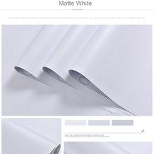 Одноцветные белые обои самоклеящиеся водонепроницаемые влагостойкие плотный фон для спальни для общежития настенные наклейки домашний де...(Китай)