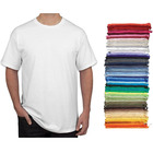 China round neck 100% cotton or polyester blank white plain t shirts for men cotton tshirt with logo custom logo printed
