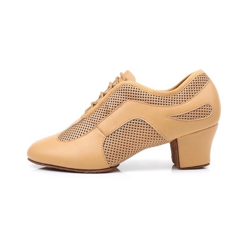 Jieruiya  Jazz Shoes Leather Latin Dance Shoes For Women