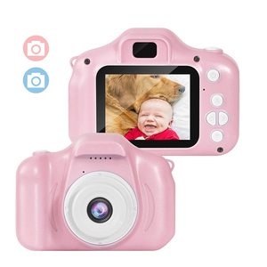 Kids Digital Camera Video Mini Rechargeable Camcorder 2 Inch IPS Screen for Girls Children Toddler 3-10 Year Old Birthday Gift