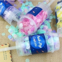 Party supply push up confetti poppers push pop confetti popper for wedding