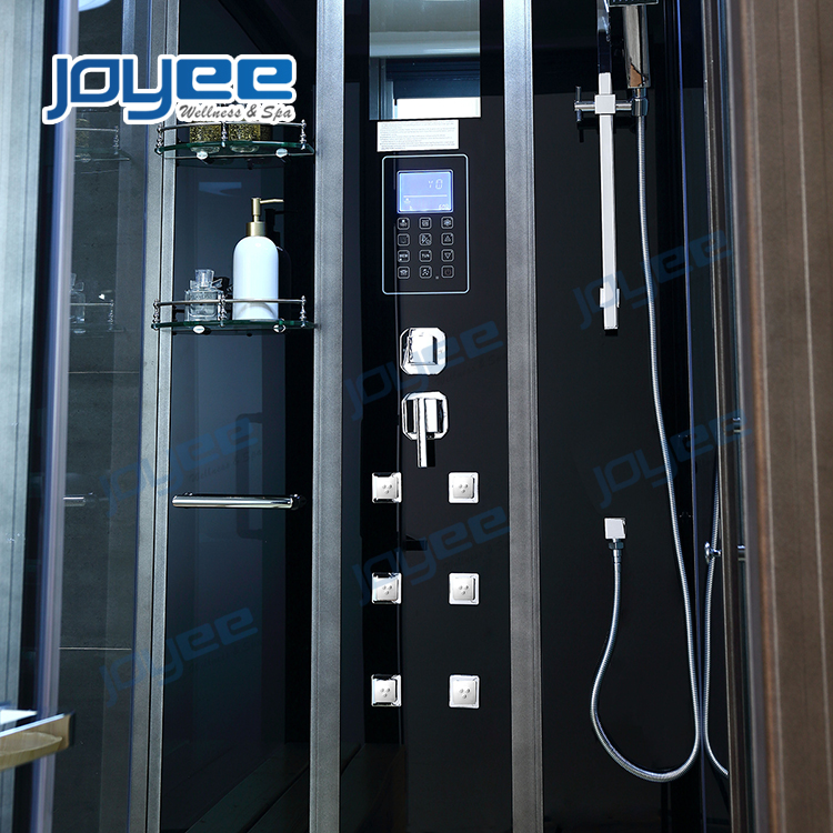 JOYEE home bathroom couple 2 zone steam shower sauna bath room cabin