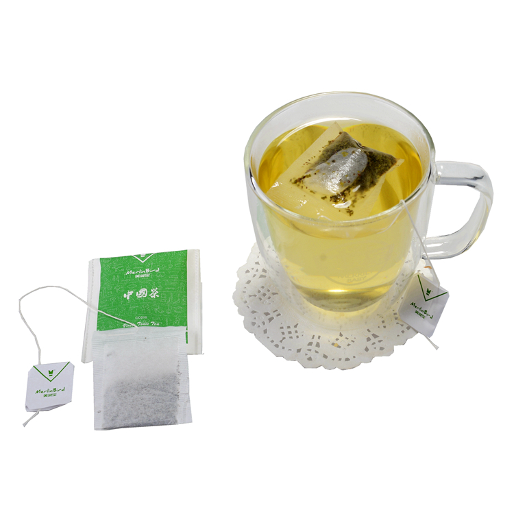 Filter Paper Single Chamber Teabags, Bagged Green Tea, 130 pieces per bag - 4uTea | 4uTea.com