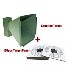 Гранулятор для стрельбы, 100 шт. Бумажных Мишеней для стрельбы, сконструированный в виде конуса, доступный настенный для стрельбы в помещении...(Китай)