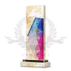 2019 High Quality white Marble Trophy Acrylic Crystal Sheet Decor award plaques