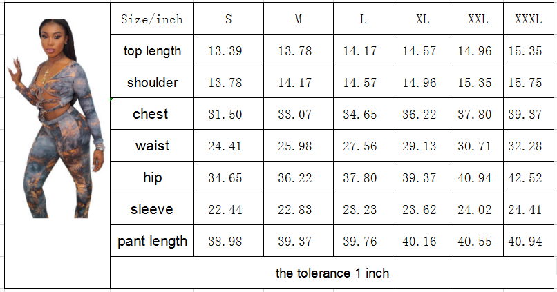 sexy women v-neck bandage long sleeve printed  sporty leggings matching set stretchy skinny slim streetwear