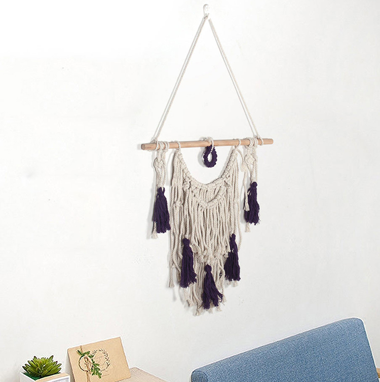 Hot New Woven Wall Lanyard Small Tassel Decorative Wall Hanging Wedding Bohemian Handmade Tapestry