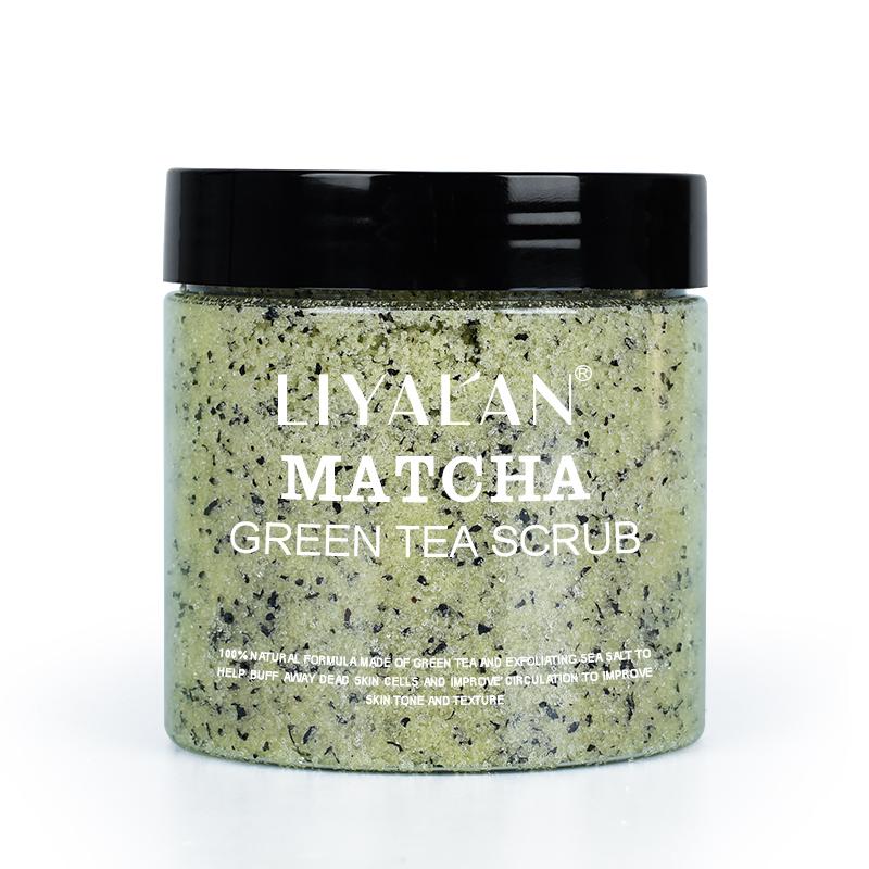 OEM LIYALAN Private Label 100% All Natural Organic Green Tea Exfoliating Moisturizing Face Matcha body Scrub