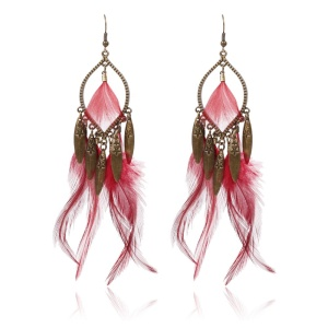Wholesale New Accessories Wild Feather Long Earrings