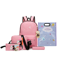 Hot Selling Teenagers Backpag Travel Mochila Children Bag High Quality Girls School Backpack Set