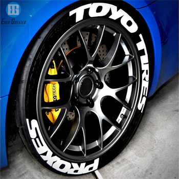 High quality Custom Rubber Raised Tyre Decals Sticker For Car