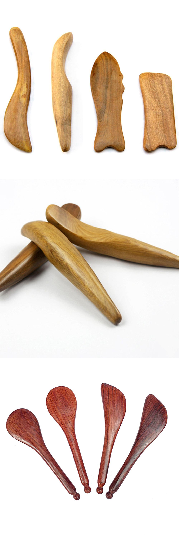 Good quality factory directly Body Gua Sha Tools Wooden Massager Guasha Board for Beauty Massage