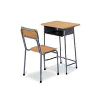 TOP HOT School Furniture Used High MDF material School Classroom best quality Single Desk and Chair for sale