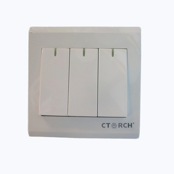 CTORCH Factory New Design 1 Gang Double Way Sockets Electrical Light Pressure Wall Switch and Socket