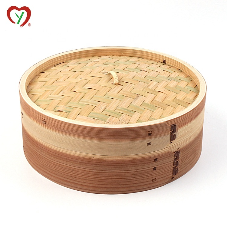 Hot Sell Big Bamboo Food Steamer Use 10 inch