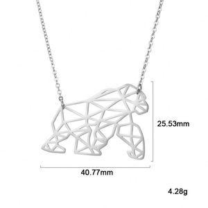 2019 Unique Simple Fashion Style New Design Stainless Steel Gorilla Shape Steel Color Necklace For Gift