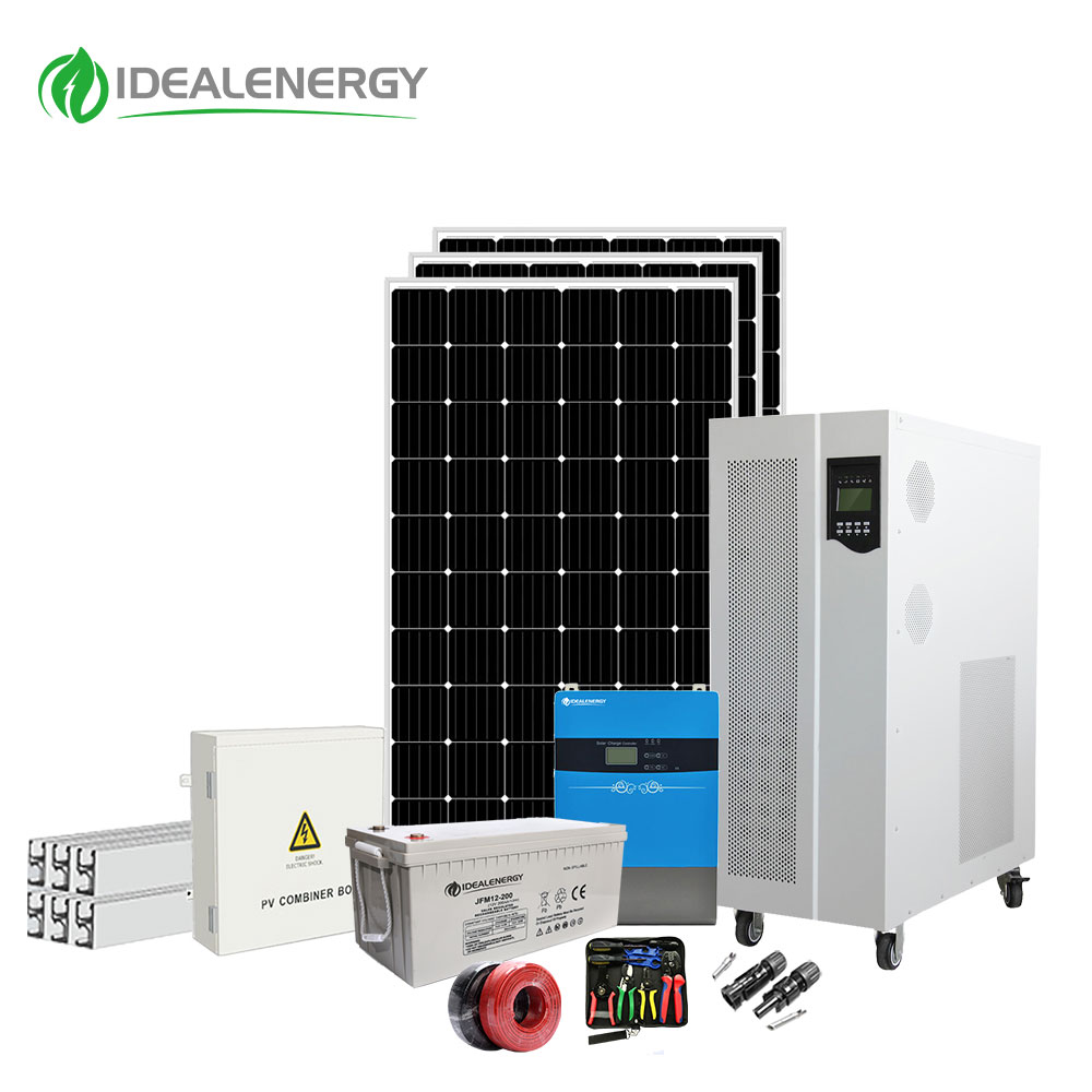 comelet kit out door 20000w 20kw 15kw off grid solar cell system for home with battery and discount