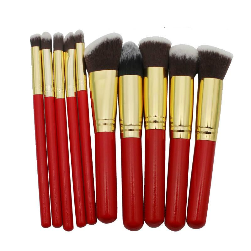 10 pièces bleu cheveux kabuki brosses de lecture cosmétiques maquillage brosse échantillon gratuit
