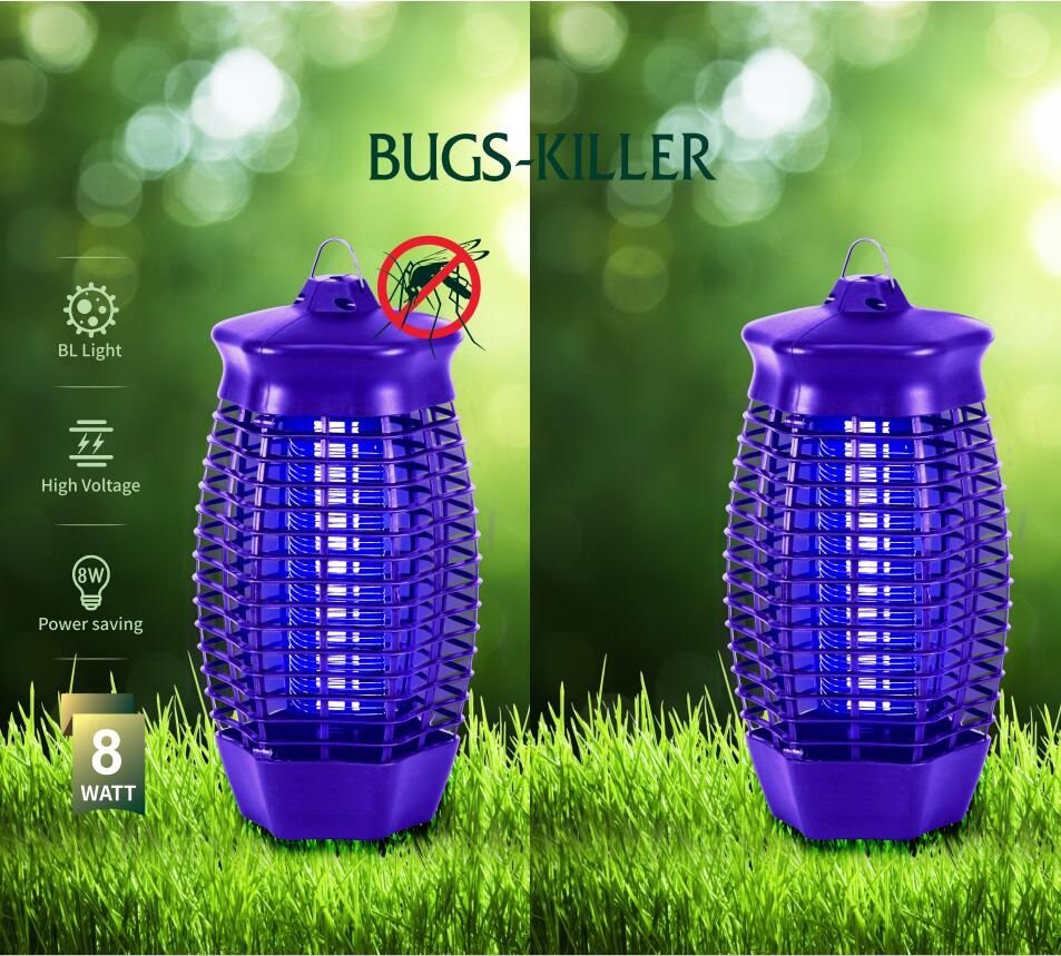 Жучок zapper с УФ-светом насекомые убивающие лампы с высоким напряжением бытовой и внутренней мощный Электронный убийца насекомых лампа