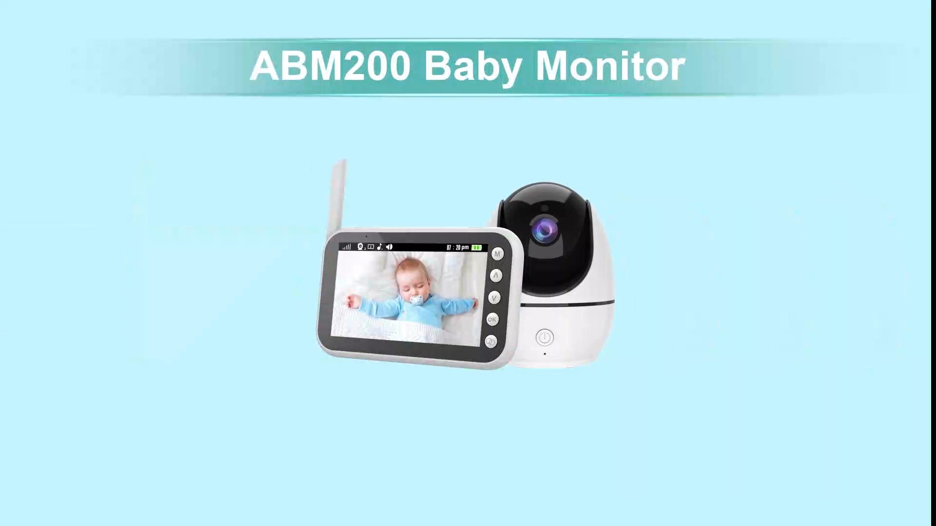 חדש תינוק צג 4.5 אינץ HD720P אלחוטי ראיית לילה עם שתי מצלמות תינוק דו כיוונית לדבר בחזרה LCD תצוגת תינוק ניטור מצלמה