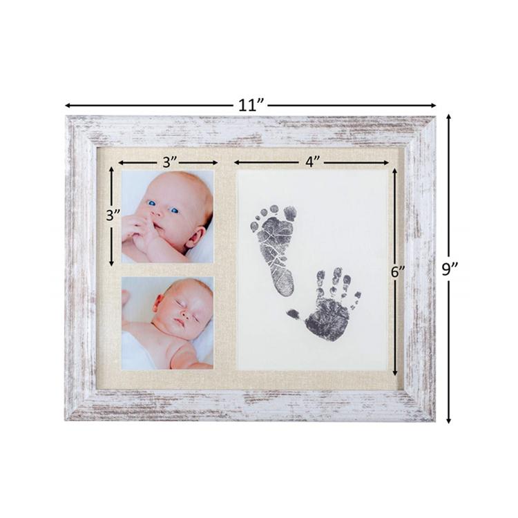 Baby Voetafdruk Handafdruk Fotolijst Kit Perfecte Baby Shower Gift Voor Jongen Meisje Pasgeboren Keepsake Voet Hand Indruk