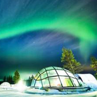 Customized tourism steel structure glass igloo in the region of Finland