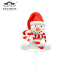 Accessory Decorative Table Cake Accessory Soft Clay Topper For Cake Decorative Cheap Fabric Table Toppers Snowman Cake Topper For Party