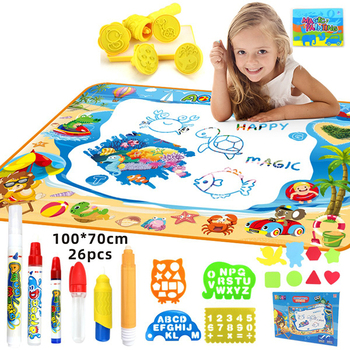Drawing Toys Set Aqua Doodle Drawing Magic Water Mat For Kids