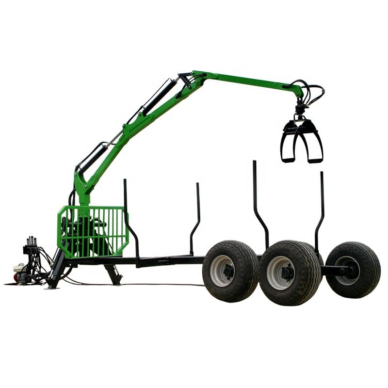 ATV Rimorchiabile 8 Tonnellate Silvicoltura Gru TUV Approvazione Forestey Legna Da Ardere Tronchi di legno Trattore Gru rimorchio