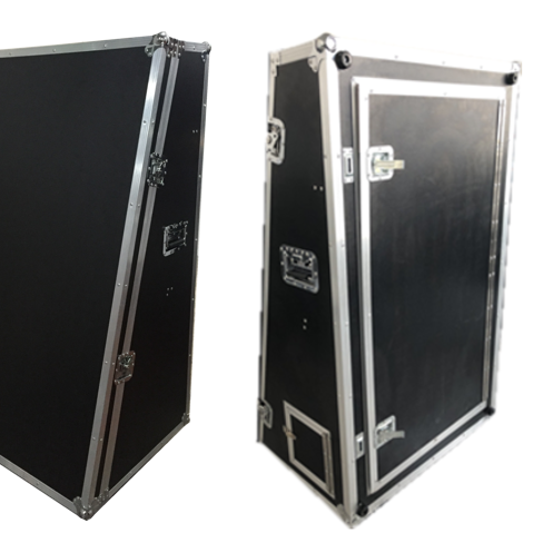 Customized plywood Aluminum cable flight case for placing music instrument case