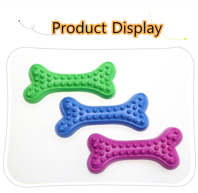 2020 Hot Sell Puppy Teething Toy Dog Chew Toothbrush Teeth Cleaning Toy Fetch Dental Chew Bone Indestructible Interactive Toy