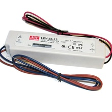 Mean well 35 w led driver 36 24 15 12 5 v v v v v com caixa de plástico