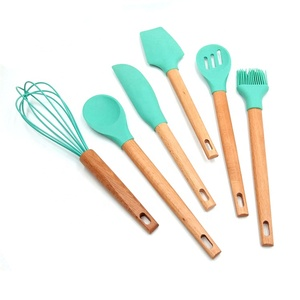 FSC Indian cooking non stick multi use silicone baking ecofriendly logo professional kitchen utensils set